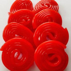 Cherry liquorice wheels
