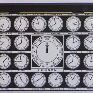Clock tea tin