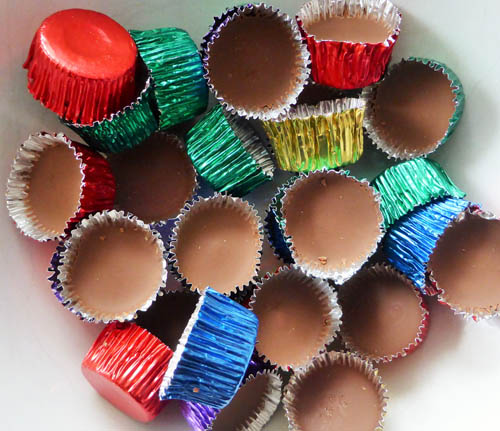 Chocolate icy cups