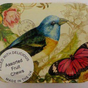 Nostalgia bird& butterfly tin
