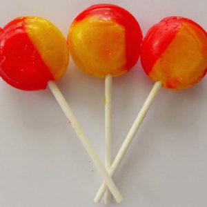Pear drop lollipop