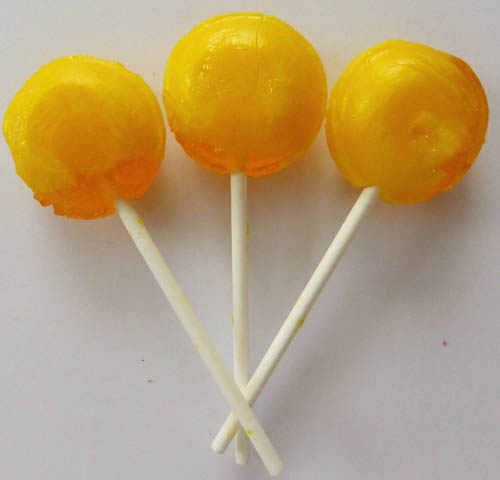Pineapple lollipop