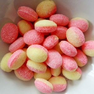 Rhubarb and custard sweets