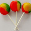 Tropical fruit lollipop