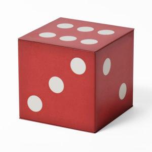 Red dice tin