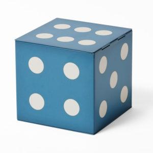 Blue dice tin