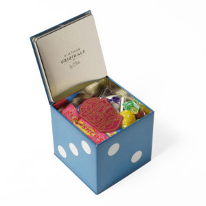 Blue sweet filled dice