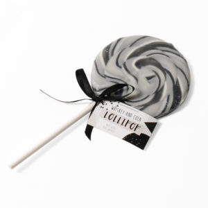 Whiskey and cola lollipop