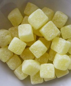 Pineapple cube sweets