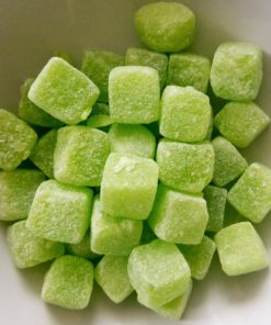 Sour apple cube sweets