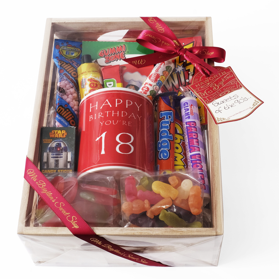 18th Birthday Hamper Mrs Beightons Sweet Shop