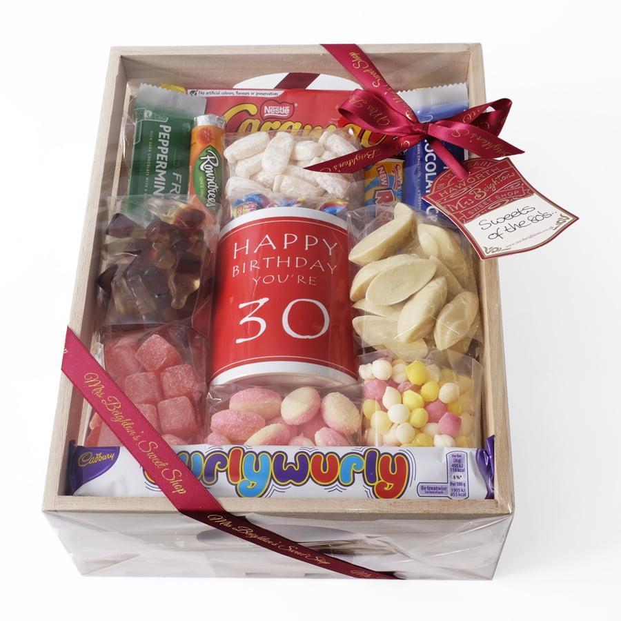 30th Birthday Hamper Mrs Beightons Sweet Shop