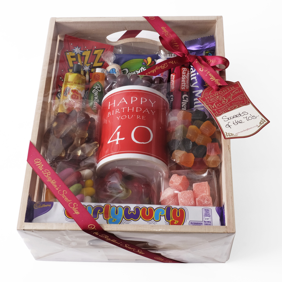 40th Birthday Hamper Mrs Beightons Sweet Shop