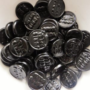 Liquorice hard coin