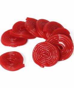 Strawberry liquorice wheels