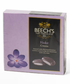 Violet chocolate creams