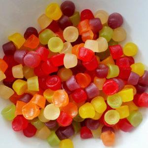 Floral gum sweets