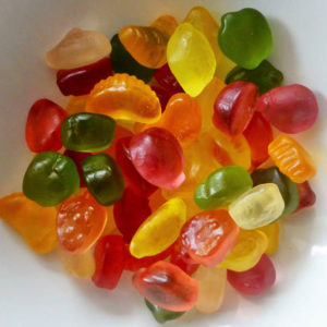 Fruit jelly sugar free sweets