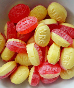 Rhubarb and custard sugar free sweets