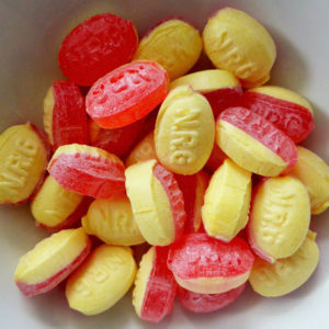 Rhubarb and custard sugar free sweets