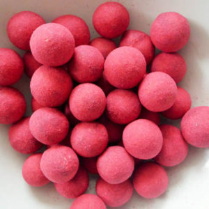 Raspberry and chilli liquorice