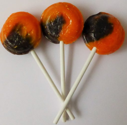 Chocolate orange lollipop