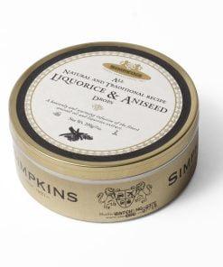 Liquorice and aniseed sweet tin