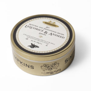 Liquorice and aniseed sweet tin