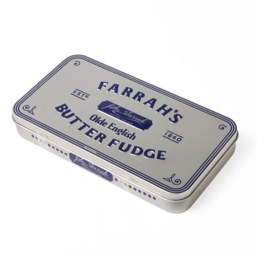 Fudge tin