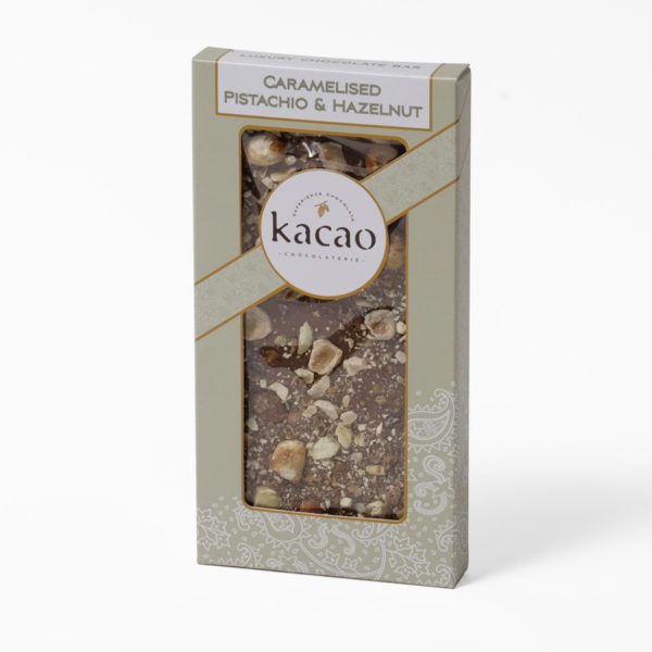 Pistachio and hazelnut chocolate