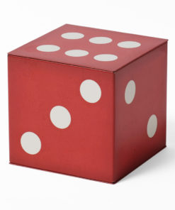 Red dice tin