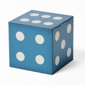 Blue dice tin
