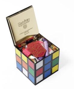 Sweet filled rubix cube