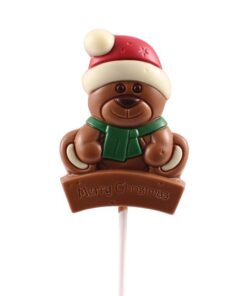 Christmas bear chocolate lolly