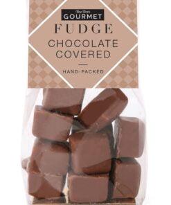 Chocolate covered fudge