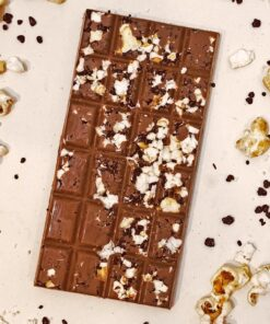 Popcorn and popping candy chocolate