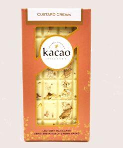 Custard cream chocolate bar